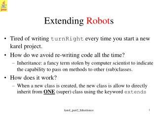 Extending  Robot s