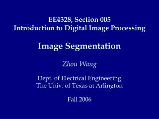 What is Image Segmentation? Image Segmentation Methods Thresholding Boundary-based