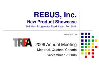 REBUS, Inc. New Product Showcase