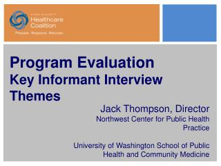 Program Evaluation Key Informant Interview Themes