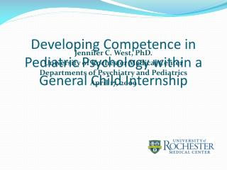 Developing Competence in Pediatric Psychology within a General Child Internship