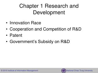 Chapter 1 Research and Development