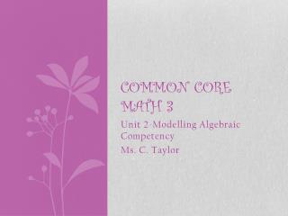 Common Core math 3