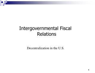 Intergovernmental Fiscal