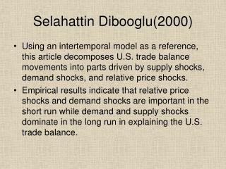 Selahattin Dibooglu(2000)