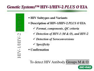 HIV-1/HIV-2  PLUS O