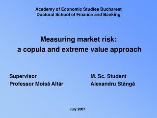 Measuring market risk:  a copula and extreme value approach