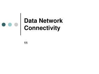 Data Network Connectivity