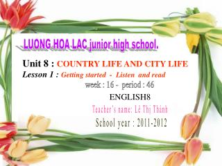 LUONG HOA LAC junior high school.