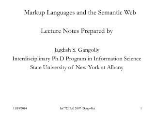 Markup Languages and the Semantic Web