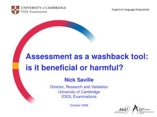 Assessment as a washback tool: is it beneficial or harmful