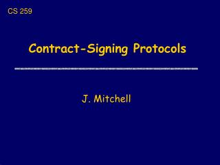 Contract-Signing Protocols