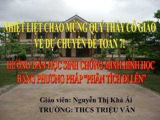 Giáo viên: Nguyễn Thị Khả Ái