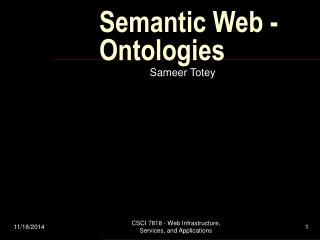 Semantic Web - Ontologies
