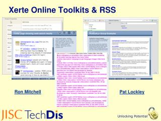 Xerte Online Toolkits & RSS