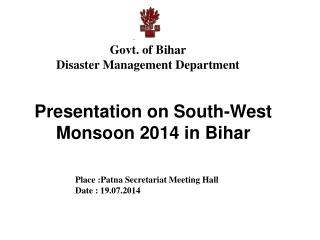Govt. of Bihar Disaster Management Department