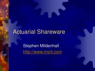 Actuarial Shareware