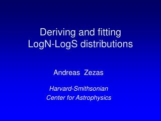 Deriving and fitting  LogN-LogS distributions