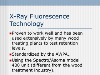 X-Ray Fluorescence Technology