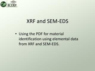 XRF and SEM-EDS