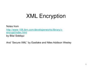 XML Encryption