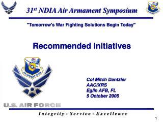 31 st  NDIA Air Armament Symposium