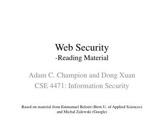 Web Security -Reading Material