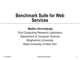 Benchmark Suite for Web Services
