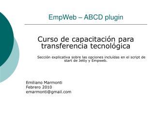 EmpWeb � ABCD plugin