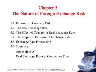 Chapter 5  The Nature of Foreign Exchange Risk