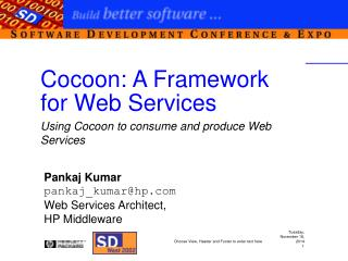 Cocoon: A Framework for Web Services