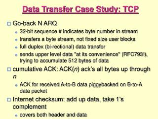 Data Transfer Case Study: TCP