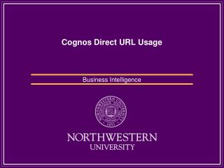 Cognos Direct URL Usage