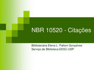 NBR 10520 - Cita  es
