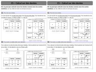 C5 – Calcul sur des durées