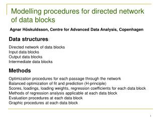 Modelling procedures for directed network of data blocks