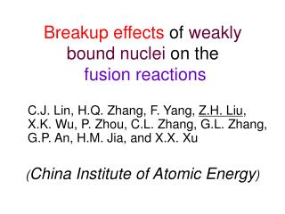 Breakup effects  of  weakly bound nuclei  on the fusion reactions