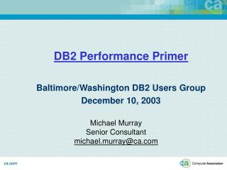 DB2 Performance Primer