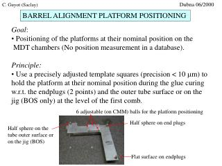 BARREL ALIGNMENT PLATFORM POSITIONING