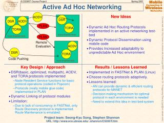 Active Ad Hoc Networking
