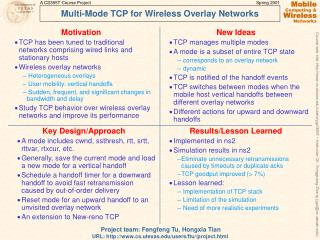 Multi-Mode TCP for Wireless Overlay Networks