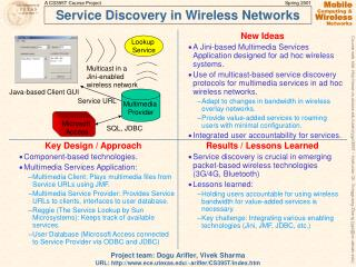 Service Discovery in Wireless Networks