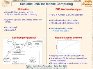 Scalable DNS for Mobile Computing