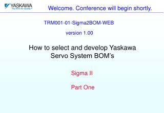 Welcome. Conference will begin shortly.