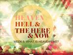 WEEK 5: WHAT IS HEAVEN LIKE