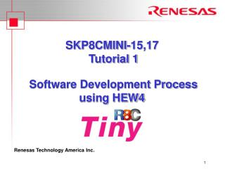 SKP8CMINI-15,17  Tutorial 1   Software Development Process  using HEW4