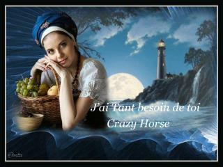 J�ai Tant besoin de toi        Crazy Horse