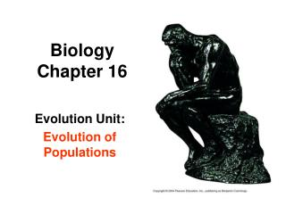 Biology Chapter 16