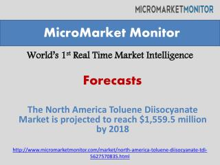 The North America Toluene Diisocyanate Market is projected t