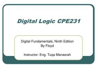 Digital Logic CPE231